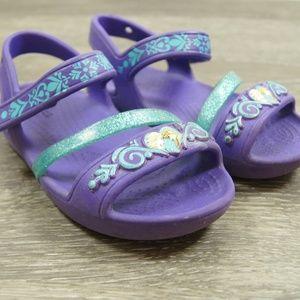 CROCS Disney Frozen Purple Toddler Girls Sandals 8